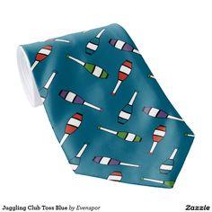 Juggling Club Toss Blue Tie