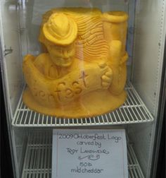 Cheese Sculpture at Oktoberfest- Chippewa Falls, WI