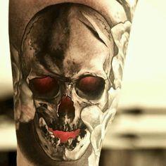 Gnarly skull tattoo!