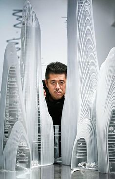 MAD founder Ma Yansong with an architectural model. #modernarchitecturemodel