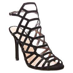 Women's Vienna Cage Front Dress Sandals Black 9.5 - Tevolio