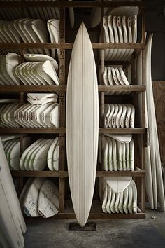 White boards - what a Great Wall of art these white surf boards would make! WOW