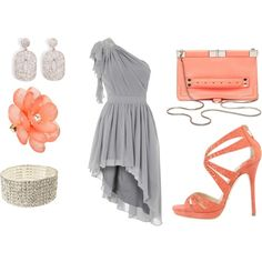 Gray and Coral