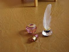 My little little dream: Making miniature inkwell and a bottle of perfume