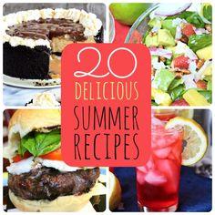 20 delicious summer recipes at Tatertots and Jello #DIY #Recipes #summerrecipes