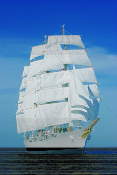 """The ARA Libertad is a steel hulled, full rigged, class """"A"""" sailing ship which serves as a training vessel in the Argentine Navy.  One of the largest, fastest and, IMO, most beautiful tall ships in the world. Launched in 1956."""