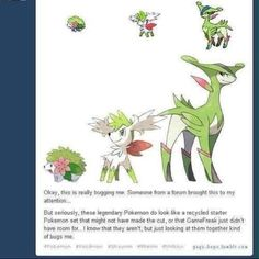 I wish this way a evolution starter it would be the first grass type starter I would love(I normally pick the water types)