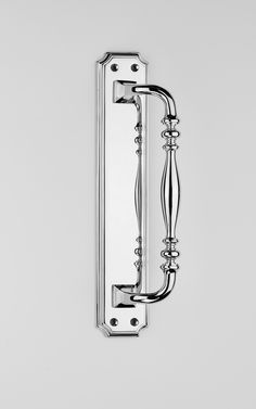 Polished chrome plate on Brass Pull Handle | Traditional