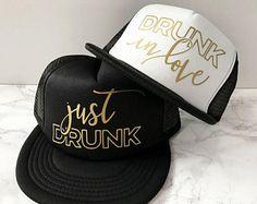 READY TO SHIP! Drunk In Love Hat + Just Drunk Hats | Bachelorette Hat | Bridesmaids Hats | Beyonce Bachelorette | Bridal Party Hats (scheduled via http://www.tailwindapp.com?utm_source=pinterest&utm_medium=twpin&utm_content=post202142011&utm_campaign=scheduler_attribution)