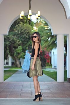 BB Dakota Metallic Skirt...And this is why I heart metallics! Via @Nicole, Frankie Hearts Fashion