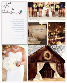 This rustic barn wedding is perfectly   suited for a natural color scheme and minimalist wedding invitation by   Exclusively Weddings.