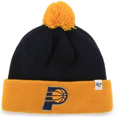 759626af735 Infant Indiana Pacers  47 Navy Bam Bam Cuffed Knit Hat