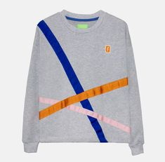 Night Looks, Grey Sweatshirt, Slow Fashion, Grosgrain Ribbon, Creative Design, Sweatshirts, Ribbons, Fabric, Sweaters