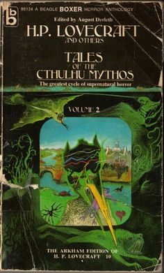 """""""Tales of the Cthulhu Mythos"""" by H.P. Lovecraft, edited by August Derleth (Beagle Boxer Horror Anthology)"""