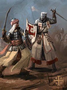 Medieval Armor, Medieval Fantasy, Fantasy Armor, Dark Fantasy Art, Military Art, Military History, European History, Art History, Knights Templar History