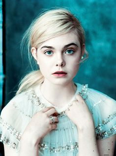 Elle Fanning ... this young actress is amazing. Watch Ginger & Rosa if you haven't... she's astounding.