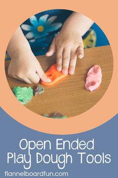 Play dough is a basic necessity in your preschool classroom--and at home! Find out all about open ended playdough tools here. Sensory Activities Toddlers, Playdough Activities, Nature Activities, Sensory Bins, Sensory Play, Sensory Bottles, Learning Through Play, Learning Activities, Kids Learning