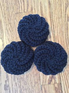 A personal favorite from my Etsy shop https://www.etsy.com/listing/220685527/black-dishbath-scrubbies
