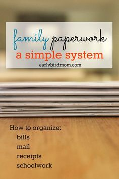 Are you frustrated by all the papers that come into your house daily? Put a simple system into place with this post on how to organize paperwork.