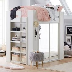 Sleep & Style Wardrobe Loft Bed Kids Room Design Bed Loft Sleep Style Wardrobe Little Girls Room bed design Kids Loft room Sleep style Wardrobe Bedroom Ideas For Teen Girls, Cute Bedroom Ideas, Cute Room Decor, Room Ideas Bedroom, Bedroom Loft, Dream Bedroom, Bed Ideas, Master Bedroom, Loft Room