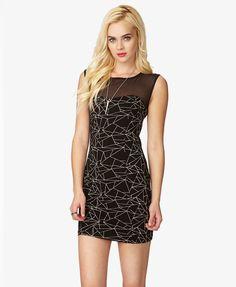 Geo Print Bodycon Dress | FOREVER21 - 2035471142