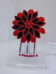 Kanzashi Flowers, Silk Ribbon, Hair Accessories, Weddings, Hairpin Legs, Choirs, Hair Tinsel, Wedding, Marriage
