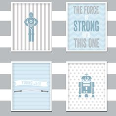 Star Wars Nursery Art (Set of 4) - 8x10 - INSTANT DOWNLOAD