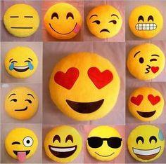 17 Styles Soft Emoji Smiley Emoticon Yellow Round Cushion Pillow Stuffed Plush Toy Doll Present Free Shipping
