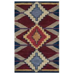 Rizzy Home Multi Colored Rug In Wool 2' x 3', Multicolor