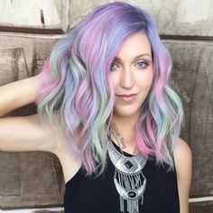 Medium Length Layered Unicorn Hair