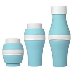 £0 (100% Off) on LootHoot.com - Jerrybox Collapsible Silicone Mug BPA-Free Foldable Cup,Innovative Multi-Capacity 200 mL, 300 mL, 400 mL, 600 mL for Travel and Daily Use (blue)