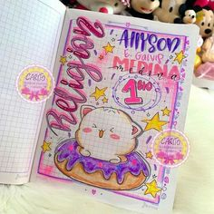 Bullet Journal Cover Ideas, Art Journal Pages, Journal Covers, Spongebob Drawings, Tribal Animals, Hand Lettering Art, Drawings Of Friends, School Study Tips, School Notes