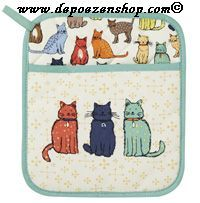 For the cat lady's kitchen.  pot holder.