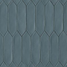 Bedrosians Bright up your interior space with this tile. Made in Spain, this decorative glazed ceramic tile comes in a picket fence style. Due to its artisanal quality, inherent size and color may vary. Glazed Ceramic Tile, Ceramic Wall Tiles, Glazed Tiles, Look Wallpaper, Hexagon Tiles, Hexagon Tile Backsplash, Tiles Texture, Brick Texture, Style Tile