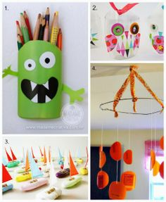 Lots of cute DIY Toys made from shampoo bottles - the ReFab Diaries