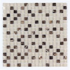 All Marble Mosaic Glass and Stone Mix 5/8 x 5/8 Glass Mosaic Tile Mag 4445 SQ from http://AllMarbleTiles.com