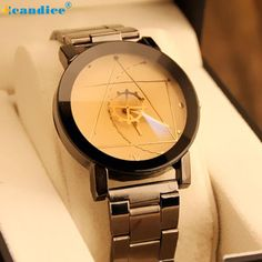 >> Click to Buy << Fashion and Unique Design Watch Stainless Steel Women Quartz Analog Wrist Watch Creative Mar10 #Affiliate