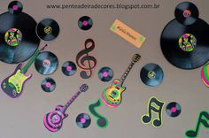Image result for decoração de festa disco
