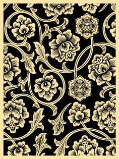 ☯☮ॐ American Hippie Psychedelic Art ~ Black Print - OBEY Shepard Fairey street artist . revolution OBEY style, street graffiti, illustration and design posters. Obey Wallpaper, Textures Patterns, Print Patterns, Pattern Print, Obey Art, Shepard Fairey Obey, Peace Art, Ligne Claire, Giant Flowers