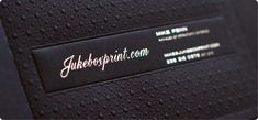 Premium Black Business Cards exclusively from Jukeboxprint.com