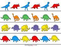 Dinosaur Preschool Printables sequance cards