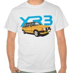 Ford Escort MK3 XR3 orange DIY  #ford #escort #fordescort #mk3 #xr3 #tshirt #thirts #automobile #car #uk