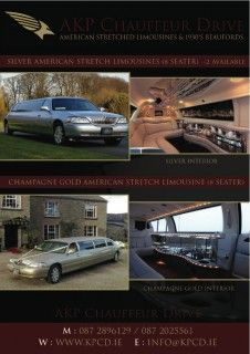 Limos in Dublin Meath by AKP Chauffeur Drive offers luxurious limo hire in Meath Ireland. Voted best limousine hire service in Dublin Wedding Car Hire, Mercedes E Class, Party Bus, Dublin Ireland, Limo, Vintage