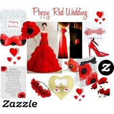 Poppy Red Wedding - Check It Out! by flisty on Polyvore featuring Topshop