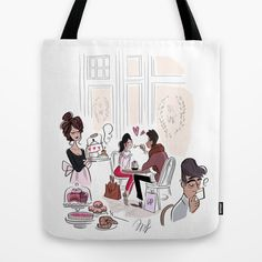 Rendez vous Tote Bag by Magalie Foutrier | Society6
