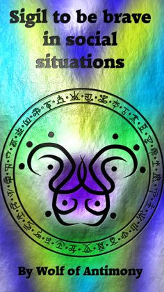 """wolfofantimonyoccultism: """"Sigil to be brave in social situations """" Wiccan Spell Book, Witch Spell, Wiccan Spells, Magick, Wiccan Symbols, Magic Symbols, Wiccan Magic, Magic Spells, Dungeons And Dragons Memes"""