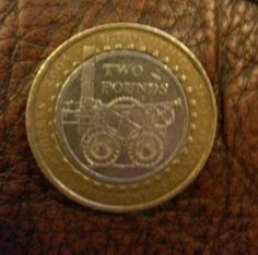 RARE two 2 pound coin 2004 R TREVITHICK FIRST  STEAM LOCOMOTIVE