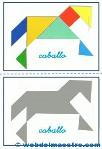 Caballo Tangram Printable, Paper Puppets, Educational Games For Kids, Folder Games, High School Art, Busy Book, Kindergarten Math, Pattern Blocks, Preschool Activities