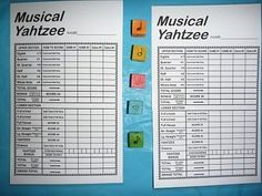 Musical Yahtzee - More Whole Note, Half-Note, Quarter-Note Games Music Sub Plans, Music Lesson Plans, Music Lessons, Piano Lessons, Piano Games, Middle School Music, Music Activities, Music Games For Kids, Fun Music
