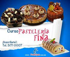 Post colorido para darle una mayor atracción a nuestros cursos de pastelería fina.